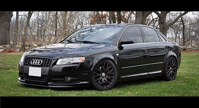 Audi A4 S4 Rs4 B7 Headlight Cover Euro Hood Trim Grill Spoiler