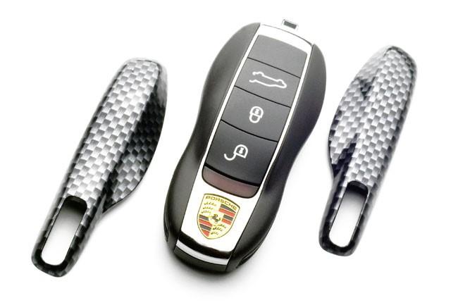 Echte Carbon Schlüssel Fernbedienung Key Cover  Halter Abdeckungs For Porsche