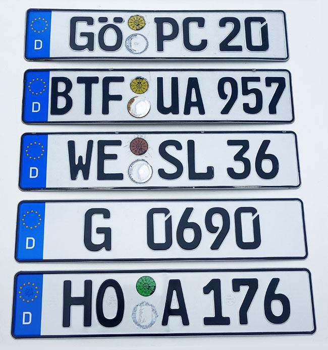 ORIGINAL German License Plate Mazda Acura Audi BMW