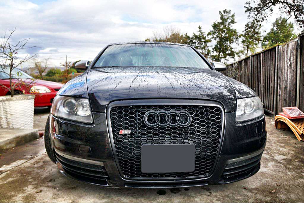 Audi A6 S6 C6 Euro Rs6 Front Sport Hex Mesh Honeycomb Grill S Line